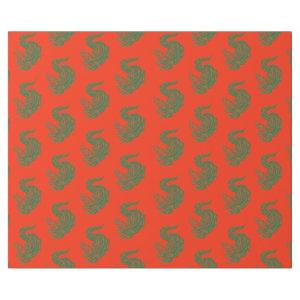 holiday gators wrapping paper