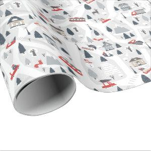Holiday in the City Christmas Wrapping Paper
