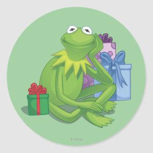 Holiday Kermit 3 Classic Round Sticker