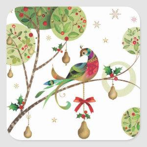 Holiday Partridge Stickers