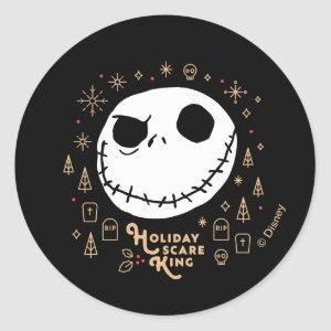 Holiday Scare King Classic Round Sticker