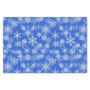 Holiday Snowflakes Tissue Paper-Royal Blue Tissue Paper
