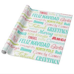 Holidays Season typography Wrapping Paper