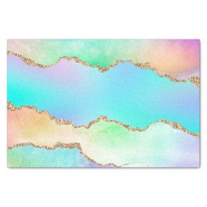 Holographic Agate | Iridescent Pastel Ombre Marble Tissue Paper