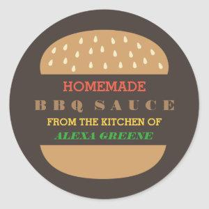 Homemade BBQ Sauce   From the kitchen of Classic Round Sticker
