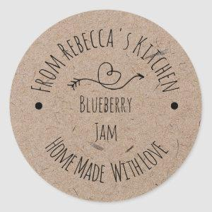 Homemade with Love Kraft Paper | Jam Canning Label
