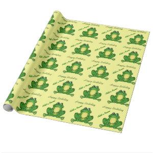 Hoppy Birthday Frog - Wrapping Paper