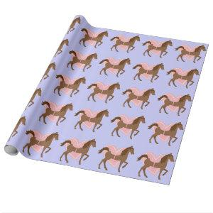 Horse and Rider Gifts, Personalized Wrapping Paper