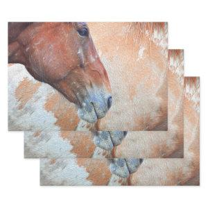 Horse Country Rustic Brown Western Decoupage Wrapping Paper Sheets