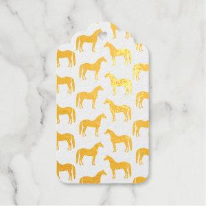 Horse Lover Pattern Foil Gift Tags