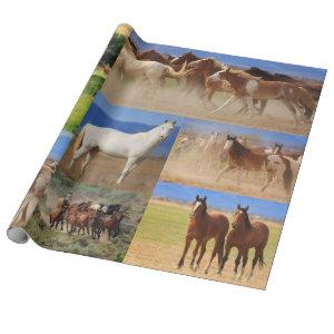 Horses Collage Wrapping Paper