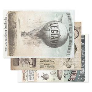 HOT AIR BALLOON HEAVY WEIGHT DECOUPAGE WRAPPING PAPER SHEETS