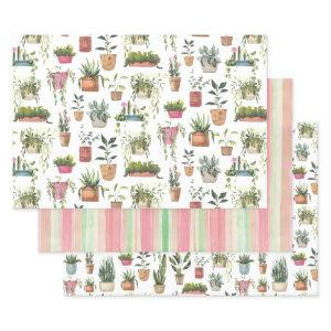 Houseplants Wrapping Paper Sheets