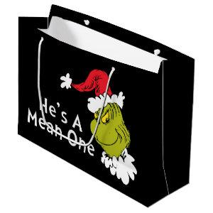 How the Grinch Stole Christmas | He's A Mean One Large Gift Bag