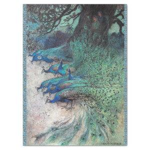 HUNDREDS OF PEACOCKS ANTIQUE LITHOGRAPH TISSUE PAPER