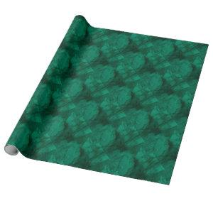 Hunter Green Marble Wrapping Paper
