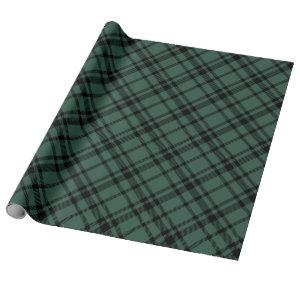 Hunter Green Scottish Tartan Plaid Holiday Wrapping Paper