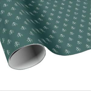Hunter | Modern Trees Pattern Wrapping Paper