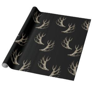 Hunter Theme Deer Antlers Gift Wrap