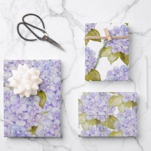 Hydrangea Shades Of Violet Blue  Sheets