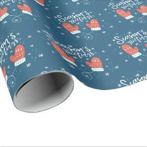 Hygge Mittens Christmas Holiday Wrapping Paper