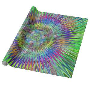 Hypnotic Star Burst Fractal Wrapping Paper
