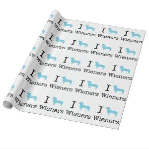I Heart Wieners Wrapping Paper