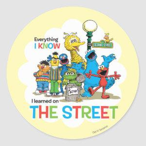 I learned on THE STREET Classic Round Sticker
