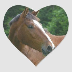 I love Horses Stickers Horse Face in Heart Sticker
