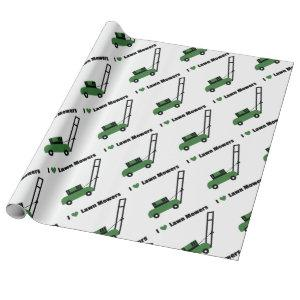 I love Lawn Mowers Wrapping Paper
