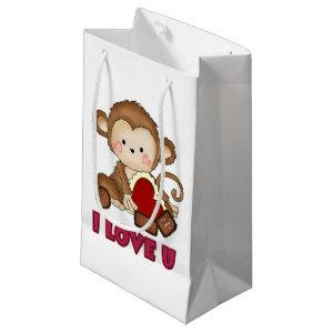 I Love you Monkey small gift bag