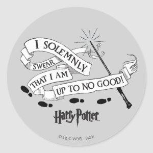 I Solemnly Swear That I Am Up To No Good Classic Round Sticker