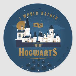 I Would Rather Be At HOGWARTS™ Abstract Boat Ride Classic Round Sticker