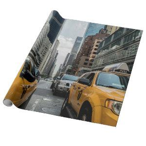 Iconic New York City Yellow Taxi Cabs Wrapping Paper