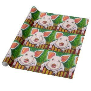 In the Pig Pen Wrapping Paper