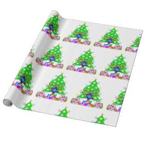 Interfaith Family Christmas and Hanukkah Together Wrapping Paper