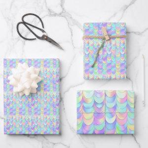 Iridescent Mermaid Scale Wrapping Paper Sheets