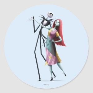 Jack and Sally Dancing Classic Round Sticker
