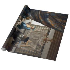 Jan Vermeer The Art of Painting Wrapping Paper
