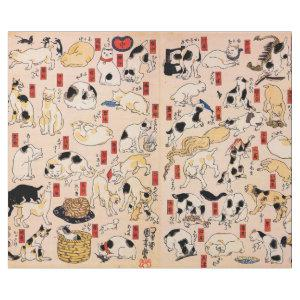 Japanese Cats by Utagawa Kuniyoshi Wrapping Paper
