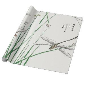JAPANESE DRAGON FLY CUSTOMIZABLE Wrapping Paper