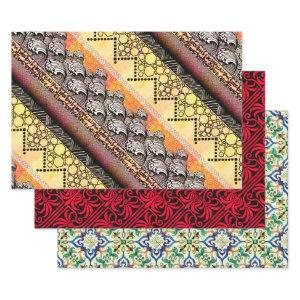 Japanese waves, English wallpaper, & Spanish tile Wrapping Paper Sheets