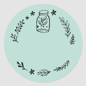 Jar / Spice Blank Sticker Label