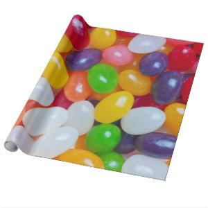 Jelly Beans - Jellybeans Easter Bean Background Wrapping Paper