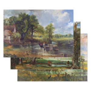 JOHN CONSTABLE'S FINE ART LANDSCAPES DECOUPAGE WRAPPING PAPER SHEETS