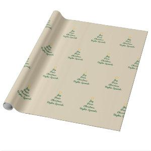 Joy-Peace-Christmas Wrapping Paper