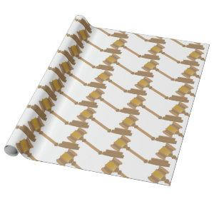 Judges Gavel Wrapping Paper