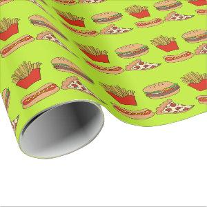 Junk food design wrapping paper