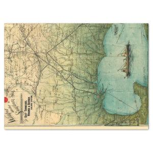 Junk Journal Map Remnant Tissue Paper