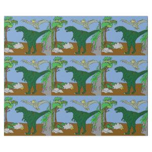 Jurassic Scene Wrapping Paper